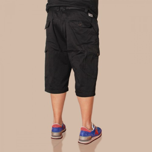 Sleek Cargo Shorts - Black