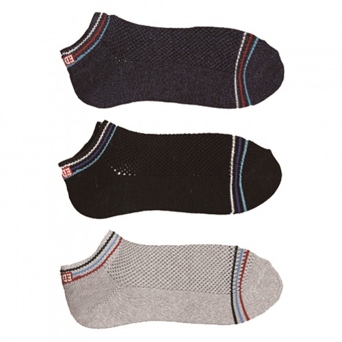 COOL FLEX Ankle Socks – Black/Navy/Grey