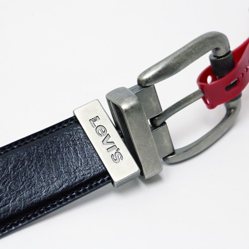 Leathered Reversible Belt - Black/Brown