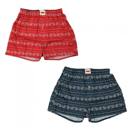 Bandana Pattern Boxers - Red/Navy