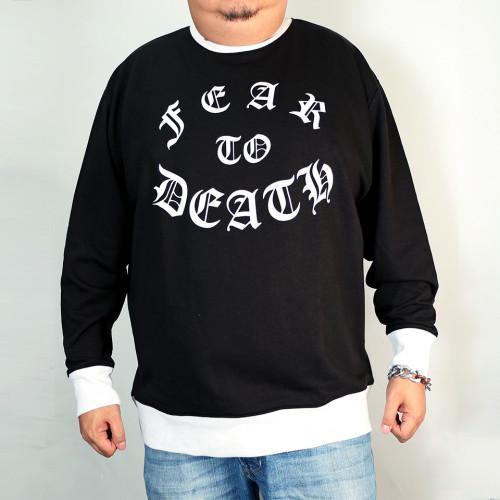 Fear To Death Sweatshirt - Black