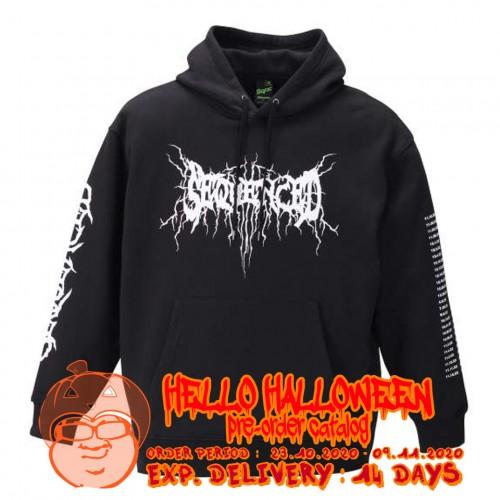 Black Metal Logo Pullover Hoodie - Black