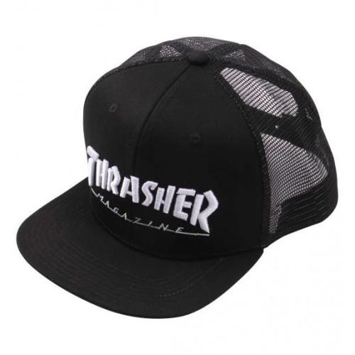 THRASHER 3D Embroidery Mesh Cap - Black