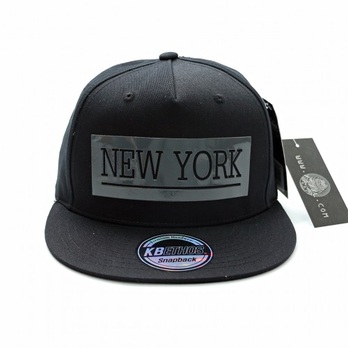 New York Snapback Cap - Black