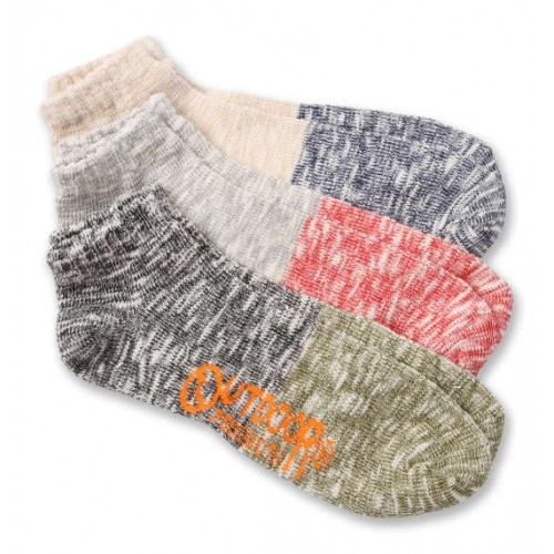 Bicolour Slab Ankle Socks - Multi