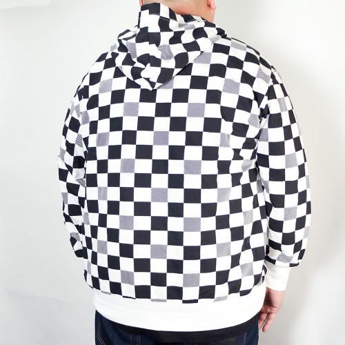 Checkers Hoodie - Black/White