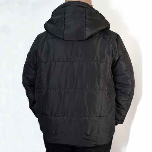 High Airtightness Cotton Jacket - Black