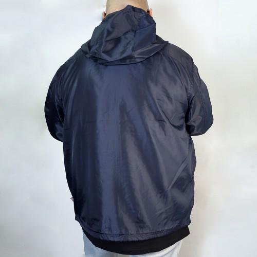 Breathable Back Mesh Windbreaker - Navy