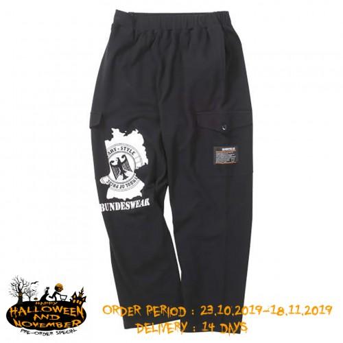 Sweat Cargo Pants - Black