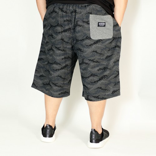 Geometric Pattern Shorts - Black