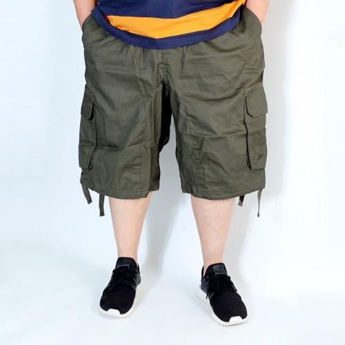 Simple Cargo Shorts - Olive