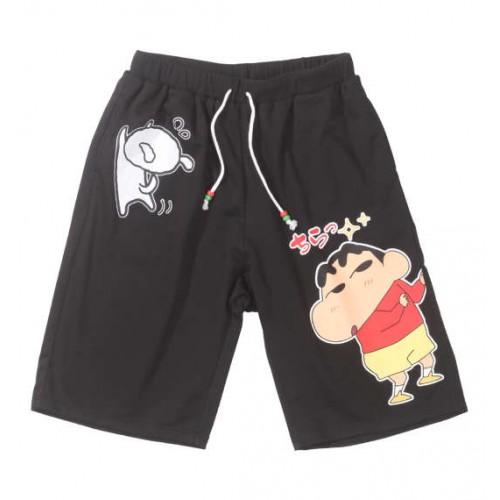 Shin-chan And Shiro Shorts - Black