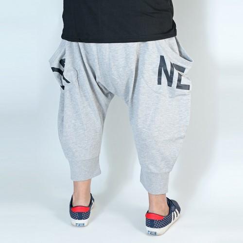 Casual Sarouel Shorts - Grey