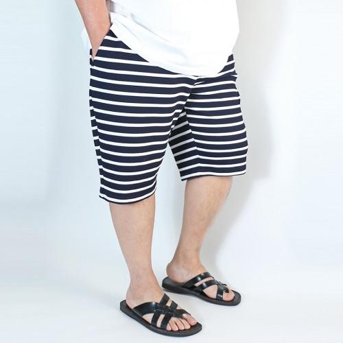 Stripe Casual Trunks - Navy/White