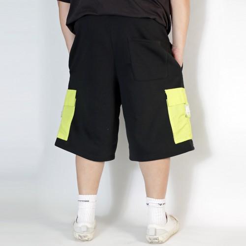 Buckle Pocket Shorts - Black
