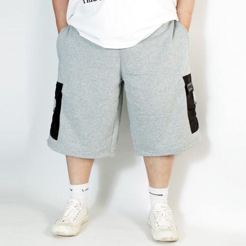 Buckle Pocket Shorts - Grey
