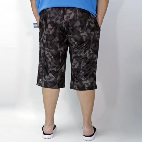 Irregular Shape Sports Shorts - Black