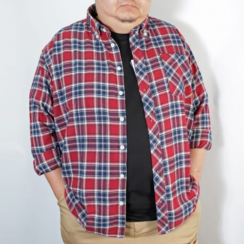 Plaid Check Pattern B.D. Shirt - Red