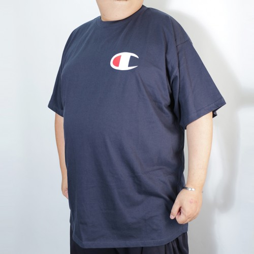 Left Chest Big C Tee - Navy