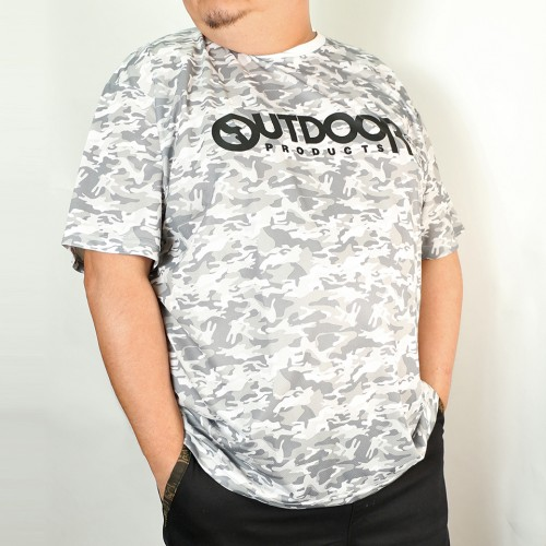 Dry Mesh Camouflage Tee - White
