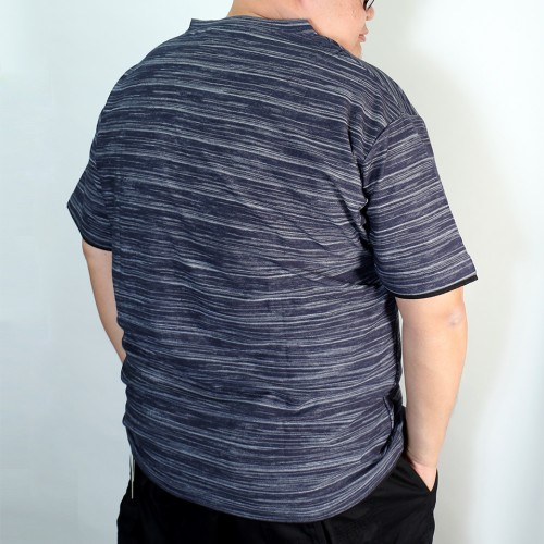 Fake Layered Henry Tee - Navy