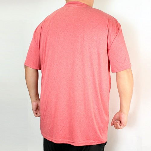 Heather Crew Rib Tee - Red
