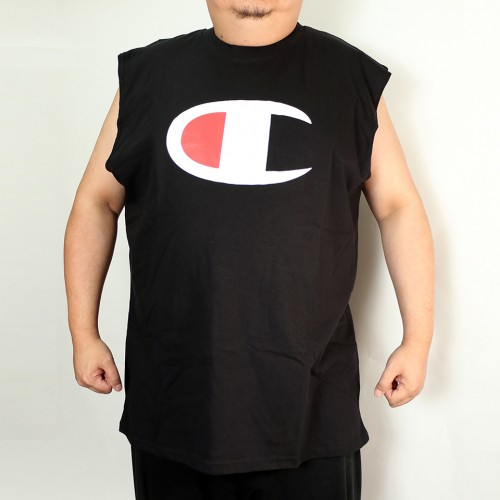 Big C Centre Tank Top - Black