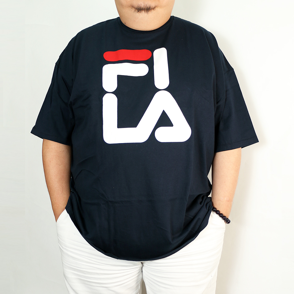 Simple FILA Print Tee - Navy