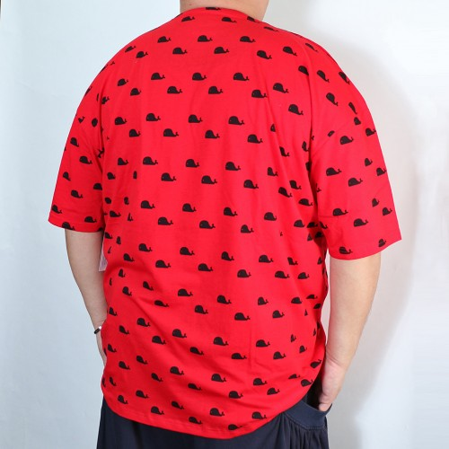 Whales Pocket Tee - Red