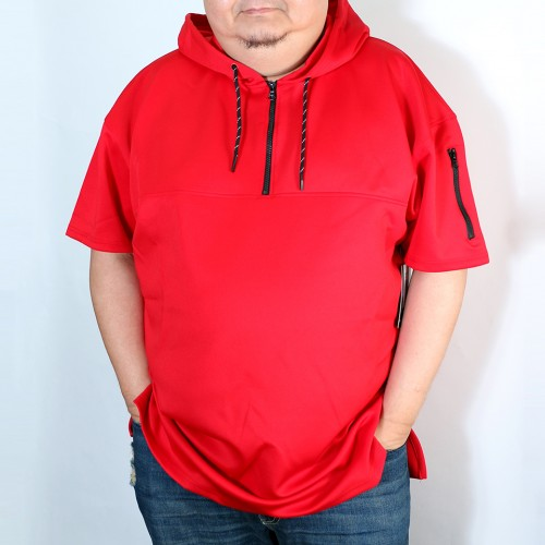 Endurance Quarter Zip S/S Tee - Red
