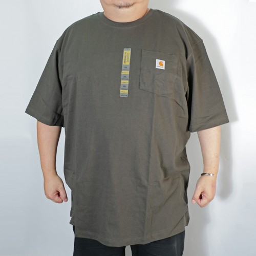 Simple S/S Pocket Tee - Dark Green
